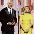 Dwayne Johnson dan Jennifer Lopez di Golden Globe Awards 2016