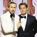 Ryan Gosling dan Brad Pitt di Golden Globe Awards 2016