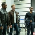 Chris Evans, Anthony Mackie dan Chadwick Boseman di Film 'Captain America: Civil War'