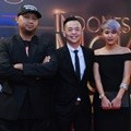 Anggy Umbara, Ernest Prakasa dan Meira Anastasia di Indonesia Movie Actors Awards 2016