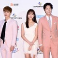 Leeteuk Super Junior, Kim So Hyun dan Hong Jong Hyun di Red Carpet Dream Concert 2016