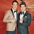Simon Yam dan Aaron Kwok di Shanghai International Film Festival 2016