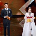 Hong Jong Hyun dan Kim Seul Gi di Seoul International Drama Awards 2016