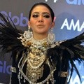 Syahrini Hadiri HUT Global TV 'Amazing 14'