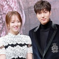 Shin Hye Sun dan Lee Min Ho di Jumpa Pers Drama 'Legend of the Blue Sea'