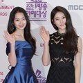 Lee Soo Min dan Kim Sae Ron di Red Carpet MBC Entertainment Awards 2016