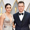 Matt Damon Hadir Bersama Luciana Damon di Red Carpet Oscar 2017