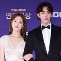 Nam Joo Hyuk Gandeng Lee Sung Kyung di Red Carpet MBC Drama Awards 2016
