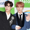 Jackson GOT7 dan Leeteuk SuJu di Red Carpet Asia Song Festival 2017