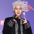 Jooheon Monsta X di red carpet MAMA 2017 Hong Kong.