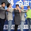 Pose khas Super Junior di jumpa pers variety show 'Super TV'