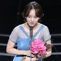 Won Jin Ah sukses meraih penghargaan Best New Comer Actress di APAN Star Awards 2018.