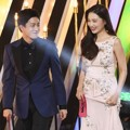 Kim Min Suk dan Yoon So Hee Saat bacakan Nominasi Best New Actor and Actress Award Kategori Drama