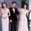 Jaekyung, Ha Jun dan Shin Eun Soo Wakili Drama 'Bad Papa' di Red Carpet MBC Drama Awards 2018