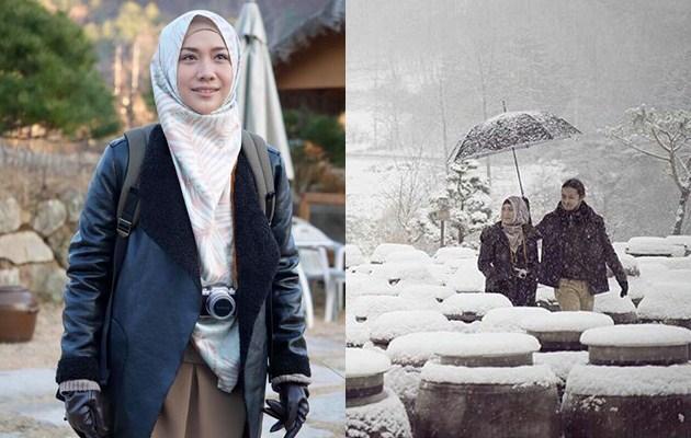 Tampil Pakai Hijab di Lokasi Syuting 'Jilbab Traveler