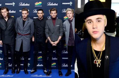One Direction Kalahkan Justin Bieber di MTV Stars Of 2014