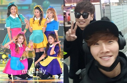Intip Gaya Red Velvet dan Lee Kwang So Cs ke Hong Kong Hadiri MAMA 2015