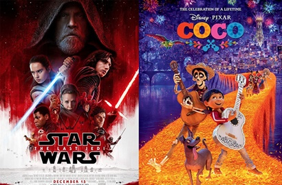 Langsung Kuat Kuasai Box Office, 'Star Wars: The Last Jedi' Kalahkan 'Coco'