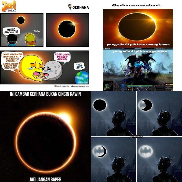 Kocak Sampai Bikin Baper Intip Meme Lucu Seputar Gerhana Matahari Total 2016