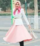 4 Mix and Match Hijab dan Rok Panjang  Fashionable