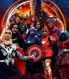 Saat HIjabers Pakai Kostum Ala Superhero 'Avengers'